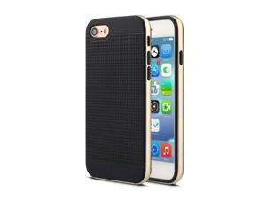 2 in 1 Two Layers TPU Shockproof Drop Protective Cover Case for iPhone 7 Plus,Black & Golden,for IPhone 7 Plus