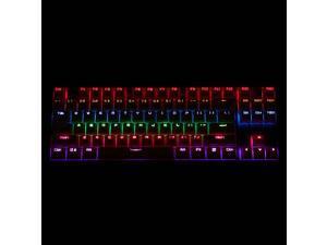 Mechanical Clicky Keyboard K 87 Mechanical Keybord Aluninum for Motorspeed
