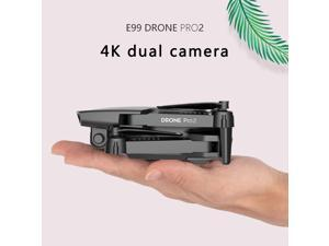 E99 Pro RC Mini Drone 4K 1080P Camera WIFI FPV Professional Aerial Photography Helicopter Foldable Quadcopter Drone Toys,1080P Single lens,1pcs battery,black