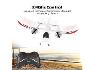 FX FX-818 2.4G 2CH Remote Control Glider 475mm Wingspan EPP RC Fixed Wing Airplane Aircraft Drone for Kid Gift RTF,White