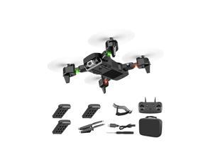 S60 Drone 2.4G 4k Wide Angle High Definition Camera WiFi Fpv RC Drone Quadcopter With LED Light Altitude Hold,3*batteries,black