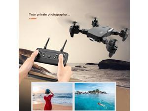 S60 Drone 2.4G 4k Wide Angle High Definition Camera WiFi Fpv RC Drone Quadcopter With LED Light Altitude Hold,2*batteries,black