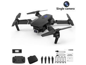 E525 Quadcopter WIFI FPV Drone With Wide Angle 4K Camera Height Hold RC Foldable Quadcopter Dron Gift Toy,single camera,1*battery,black