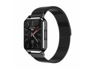 TM02 1.7 Inch Sports Smart Watch Music Player Wireless Communication Waterproof MP3 Player Smart Watch,1.7 inch,Black steel