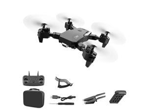 S60 Drone 2.4G 4k Wide Angle High Definition Camera WiFi Fpv RC Drone Quadcopter With LED Light Altitude Hold,1*battery,black