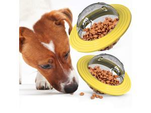 Interactive Dog Toy Puzzle IQ Treat Ball,UFO Food Dispenser Puzzle Slow Feeder Ball, Interactive Dog Frisbee Toy