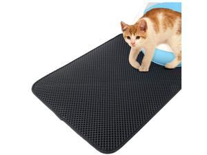 Large Cat Litter Mat, Kitty Litter Trapping Mat, Honeycomb Double Layer Mats, No Phthalate, Urine Waterproof, Easy Clean, Scatter Control, Catcher Litter Tray Box Rug Carpet 22''28''