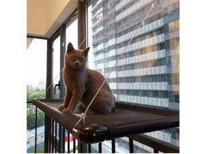 Cat Hammocks for Window - Seat Suction Cups Space Saving Cat Bed, Pet Resting Seat Safety Cat Window Perch for Large Cats Window Perch All Around 360° Weighted up to 55 lbs