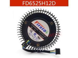 For AMD Radeon R9 270 270X Graphics card  FD6525H12D 65mm 12V 1.3A 4 Pin Video Card Cooler  Cooling Fan