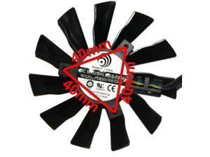 2pcs/lot  PLD10010S12HH 95mm Video Card Fan Repair Parts for MSI GTX770 R9-280X R9-270X R9-260X 4Pin  cooling fan