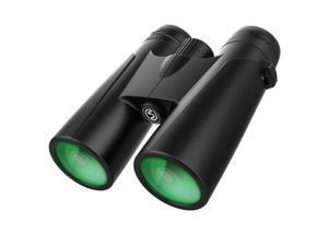 12x42 powerful binoculars, clear and low light-light binoculars for bird watching and hunting-large eyepiece binoculars for adults with BAK4 FMC lens