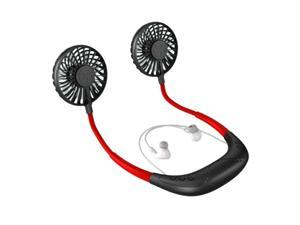 Top Sale Hands-Free Hanging Neck Fan with Bluetooth Headphone 2000MAh USB Rechargeable Wearable Aroma Fan