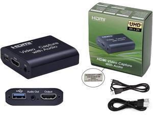 Game Capture Card with Loop Out, Audio Video Capture Card with Mic-in, 1080P 60fps Game Capture Device for Live Streaming Broadcasting Video Recording for PS3/4,Switch, DSLR, Camcorders