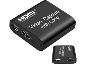 Audio Video Capture Cards, 1080P 60FPS Game Video Capture Card Device, Live Stream and Record for Switch/X-1/360/ PS4/3/Wii U/Wins/Linux/Mac