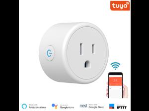 Mini US Wifi Plug with Surge Protector 110-240V Voice Control Smart Socket Work with Alexa Google Home Tuya APP