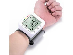 Blood Pressure Monitor Cuff Wrist, Digital BP Monitor with Wristband, 2 Users, 198 Reading Memory, Wrist BP Machine with Large LCD Display for Health Monitoring