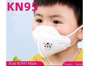 40pcs KN95 Mask Kids Mask Mask Child Protective Face mask Valved 5-Layers For 3 to 12 Years Old Children Mask with Self-priming Filter