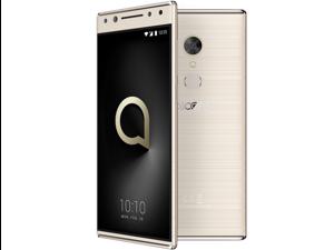 "Alcatel 5 (16GB) 5086A - Factory Global Unlocked - 4G LTE  - 5.7"" - 12MP Flash + Dual Front Camera - Octa Core - Worldwide (Metallic Gold)"