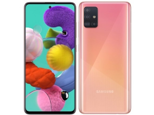 Samsung Galaxy A51 A515F 128GB DUOS GSM Unlocked Phone w/ Quad Camera 48 MP + 12 MP + 5 MP + 5 MP (International Variant/US Compatible LTE) - Pink
