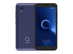 "Unlocked smartphone Alcatel 1 (16GB + 1GB RAM) 5.0""FM Radio, Dual SIM GSM Unlocked US & Global 4G LTE  5033E (Bluish Black)"