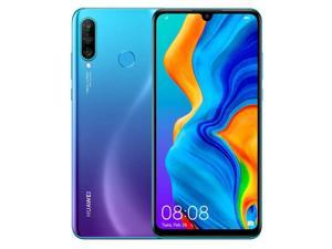 "Huawei P30 Lite (128GB / 4GB) 6.15"" Display, AI Triple Camera, 32MP Selfie, Dual SIM Global 4G LTE GSM Factory Unlocked MAR-LX3A - International Version (Peacock Blue)"