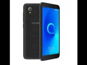 "Unlocked smartphone Alcatel 1 (16GB + 1GB RAM) 5.0"" FM Radio, Dual SIM - GSM Unlocked US & Global 4G LTE  5033E (Volcano Black)"