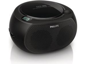 Philips AZ380/85 CD SoundMachine Portable Boombox Stereo USB/AUX MP3 Speaker System with AM/FM Radio and Dual AC/Battery Power Options