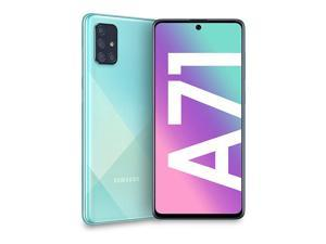 Samsung Galaxy A71 SM-A715F/DS (128GB ROM + 8GB RAM) - 4G LTE - Octa Core (LTE USA Latin Caribbean Euro) w/Four Cameras (64+12+5+5mp) - Blue