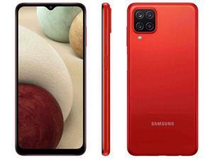 "Samsung Galaxy A12 (SM-A125F/DS) 6.5"" Infinity-V Display, 32GB + 3GB RAM, 48MP Quad Camera, 5000mAh Battery, GSM Factory Unlocked, International Version - Red"