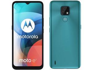 Motorola Moto E7 Dual-SIM 32GB ROM + 2GB RAM (GSM Only | No CDMA) Factory Unlocked 4G/LTE Smartphone (Aqua Blue) - International Version
