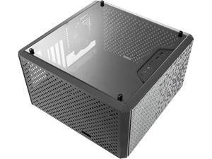 Tower w/ Magnetic Design Dust Filter, Transparent Acrylic Side Panel, Adjustable I/O And Fully Ventilated for Airflow,Black