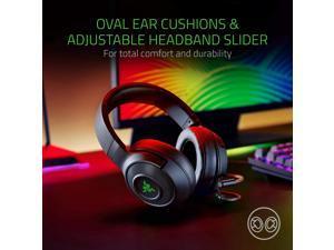 Razer Kraken X USB Ultralight Gaming Headset: 7.1 Surround Sound - Lightweight Frame - Green Logo Lighting - Integrated Audio Controls - Bendable Cardioid Microphone - For PC - Classic Black