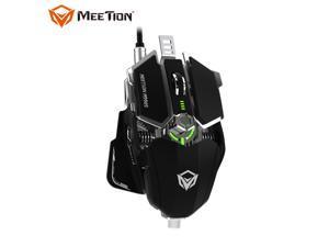 MeeTion M990S Wired Gaming Mouse, 4000 dpi, 8 Keys Custom Programmable, RGB Backlit, Ergonomic Game USB Optical Mice, Gamer Desktop Laptop PC Gaming Mouse for Windows/MAC, Black