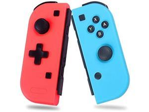 Wireless Joy-con Controller for N-Switch Console, Left and Right Switch Pro Remote Controller, Upgrade Version Plug and Play Auto Connect, Bigger Size Not Official Original One, Blue Red