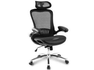 Ergonomic Mesh Adjustable Home Desk Office Chair Modern Design Reclining Gaming Chair(Black)