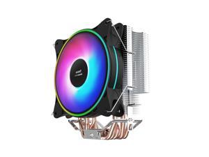 IFORGAME T600 120mm RGB CPU Cooler, High Airflow, 6 Heatpipes, Aluminum Fins, Hydraulic Bearing, PWM Fan, Computer Air Cooler for Intel/AMD Ryzen