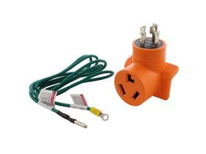 Generator to Dryer Adapter 4-Prong L14-30 30 Amp Generator Plug to 3-Prong Dryer Female Connector Adapter