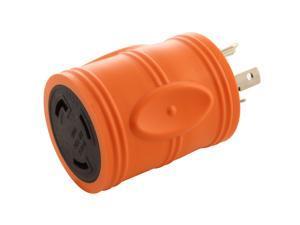 Locking Adapter NEMA L5-20P 20 Amp 125-Volt 3-prong locking plug to L5-30R 3-Prong 30 Amp Locking Female Connector