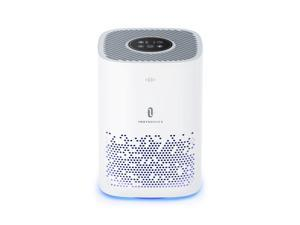 TaoTronics Air Purifier for Home, Quiet 24db for 224 sq.ft, Remove 99.9% Smoke, Allergies, Pet Dander, Odor, Perfect for Office, Bedrooms, Nurseries, Night Light (Available for California) - White