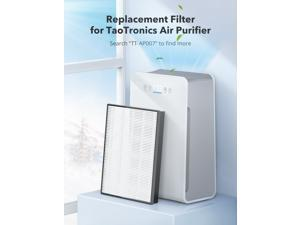 True HEPA Air Purifier Replacement Filter, 3 Stage HEPA Filter for TaoTronics TT-AP007, 3-in-1 Filter with Pre-Filter, H13 HEPA Filter and Active Carbon Filter