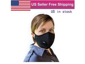 2Pack Outdoor Sports Single Valve Nylon Mesh Face Masks Mouth Covers Stops 99.9% of Droplets and Pollen Protecting Dust US in Stock Fast Shipping