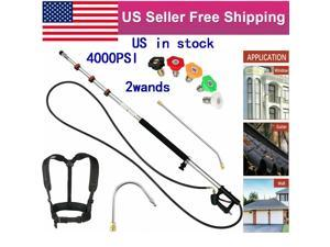 18ft Telescoping Pressure Washer Spray Wand Gutter cleaner+5 Nozzles+Belt+2wands US in Stock Fast Shipping