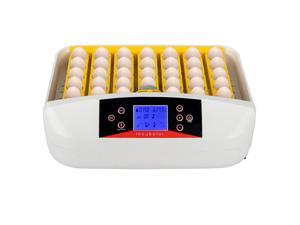 42-Egg Practical Fully Automatic Poultry Incubator with Egg Candler US Standard Yellow & & White & Transparent US in stock Fast Shipping