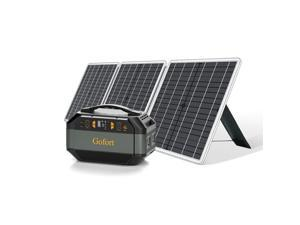 GOFORT 330W Portable Power Station, 299Wh Solar Generator Backup Power Compatible with 60W 18V Portable Solar Panel, Foldable Solar Charger with USB, 18V DC, QC 3.0 Output US in Stock Fast Shipping