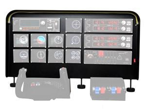 "Cockpit Simulator Panel Kit - Pre-Cut Aluminum Alloy Flight Sim Mounting Set - Compatible with Logitech, Saitek & Honeycomb Yokes, Throttle Panels - With LED Light Bar - 30""x20""x 4"""