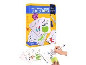 ABC Letter Learning Card Erasable Kids Alphabet Cards Writing Early Education Toys For 3+ Children