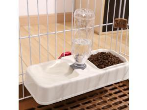 Dog Automatic Feeder Cat Food Water Bowls Double Pet Dispenser with Cage Hanger Removable Drinking for Cats Puppy Small Dog