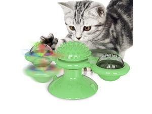 Pet toys Windmill Turntable Cat Toy with Catnip and Glow Ball  Fuovt Windmill Cat Toy, Interactive Cat Catnip Toy with Catnip Balls and Bells, Cat Turntable Teasing Interactive Toy, Massage Scratchin