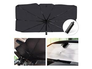 Car Windshield Sun Shade UV Rays and Heat Sun Visor Protector Foldable Reflector Windshields Umbrella(57 * 31 inches)