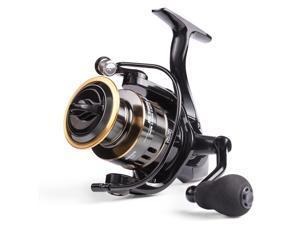 2020 New Fishing Reel HE-6000 Max Drag 10kg Reel Fishing 5.2:1 High Speed Metal Spool Spinning Reel Saltwater Reel